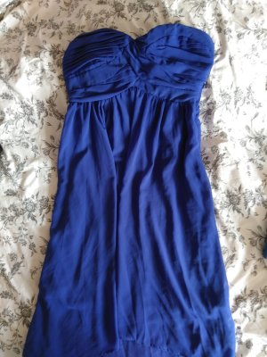 Blaues vokuhila Kleid von Vero Moda mit abnehmbaren Trägern