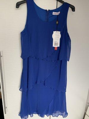 Sheego Vestido estilo flounce azul