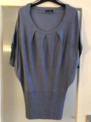 Only Koszulka z dekoltem woda błękitny-chabrowy