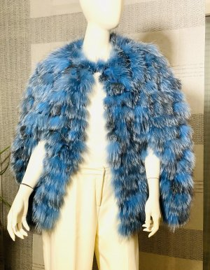 Axel Delikat Berlin Cape blue-dark blue pelt