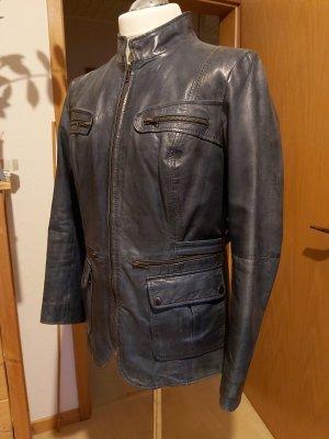 Blaugraue Lederjacke von BC – Gr. 44