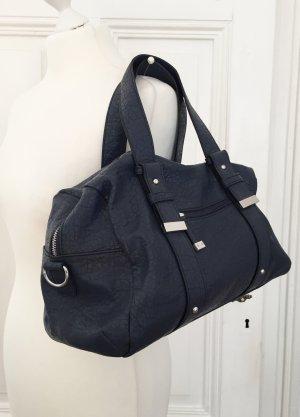 Blaugraue Tasche von TCM mit silbernen Details