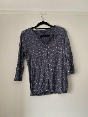 Blaulila Shirt mit Punkten von Tom Tailor, Gepunktet, Bluse, Basic