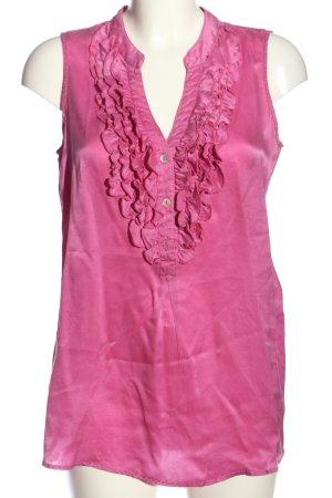 Blaumax Blusa sin mangas rosa look casual