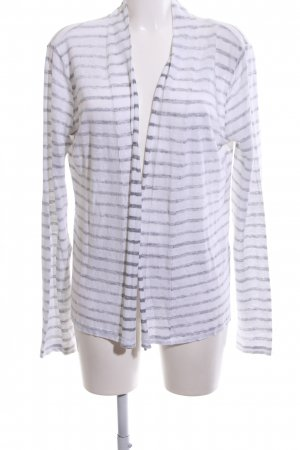 Blaumax Cardigan white-light grey striped pattern casual look