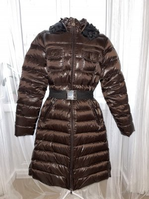 Blaumax Doudoune brun foncé-noir