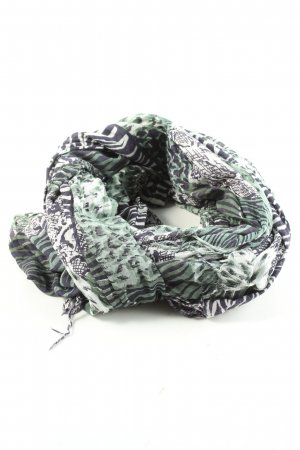 Blaumax Fringed Scarf allover print casual look