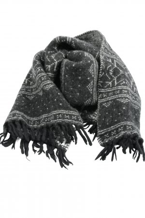 Blaumax Fringed Scarf black-white allover print casual look