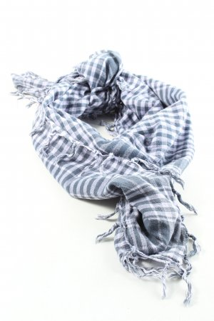 Blaumax Fringed Scarf white-light grey check pattern casual look