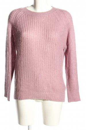 Blaumax Crochet Sweater pink cable stitch casual look
