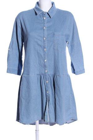 Blaumax Hemdblusenkleid blau Casual-Look