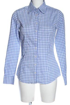 Blaumax Koszula w kratę niebieski-biały Na całej powierzchni W stylu casual