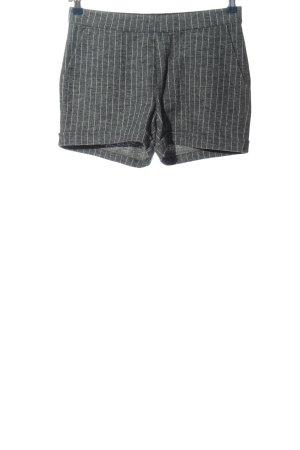 Blaumax Hot Pants hellgrau-weiß Allover-Druck Casual-Look