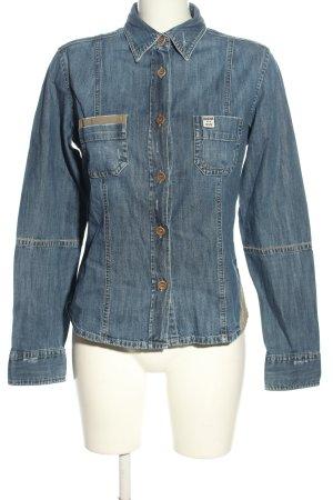 Blaumax Chemise en jean bleu style décontracté