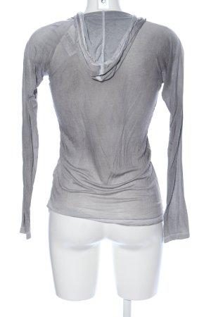 Blaumax Blusa con capucha gris claro look casual