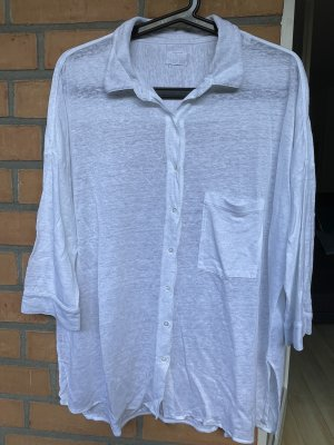 Blaumax Top à manches longues blanc lin