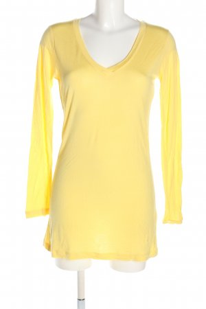 Blaumax Longshirt blassgelb Casual-Look