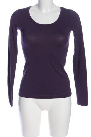 Blaumax Top à manches longues violet style décontracté