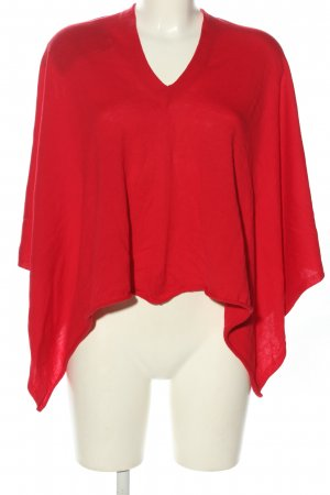 Blaumax Poncho red casual look