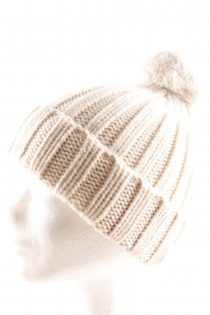 Blaumax Bobble Hat natural white mixture fibre