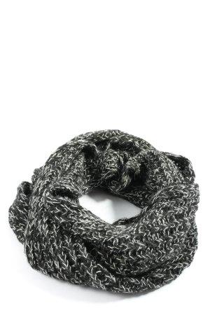 Blaumax Bufanda tubo negro-blanco moteado look casual