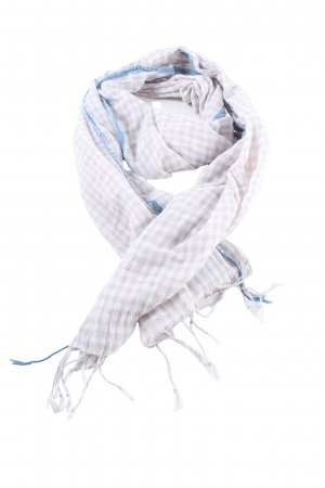 Blaumax Summer Scarf check pattern casual look