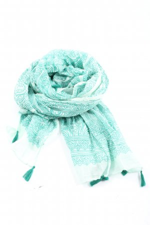 Blaumax Summer Scarf turquoise-white allover print casual look