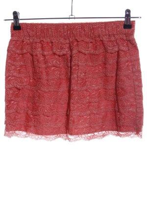Blaumax Falda de encaje rojo Mezcla de patrones look casual