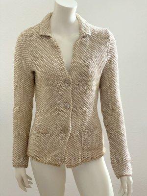 Blaumax Blazer en maille tricotée beige-blanc cassé coton
