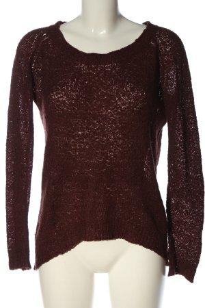 Blaumax Pull tricoté brun style décontracté