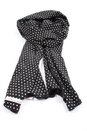 Blaumax Sciarpa lavorata a maglia nero-bianco motivo a pallini stile casual