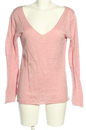 Blaumax T-shirts en mailles tricotées rose moucheté style décontracté