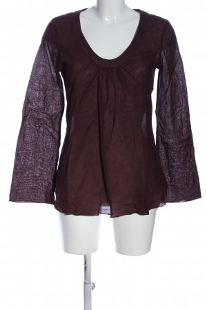 Blaumax Transparenz-Bluse lila Elegant