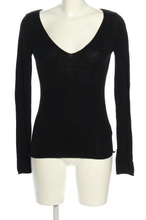 Blaumax V-Ausschnitt-Pullover schwarz Casual-Look