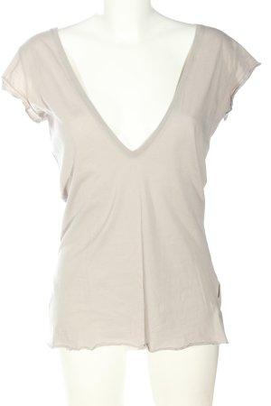 Blaumax T-shirt col en V blanc cassé moucheté style décontracté