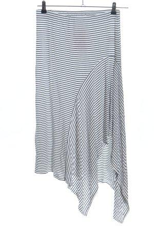 Blaumax Volantrock weiß-schwarz Streifenmuster Casual-Look