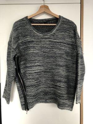 Blaumelierter Pullover