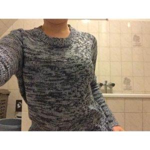 Blaumelierter Pullover Größe S