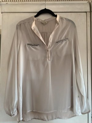 Blaustoff Herrlicher Long Sleeve Blouse natural white-silver-colored