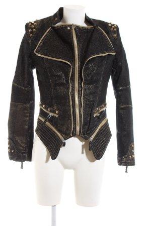Blaze Bikerjacke schwarz-goldfarben meliert extravaganter Stil