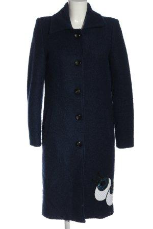 Blaze Between-Seasons-Coat blue-white printed lettering casual look