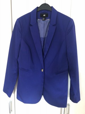 H&M Blazer en laine bleu