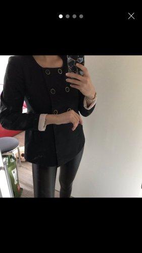 H&M Blazer court noir-rose clair