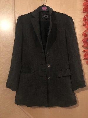 Esprit Unisex blazer grijs-zwart