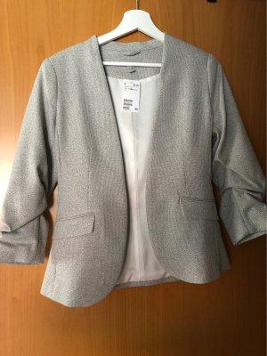 H&M Jersey Blazer light grey-white