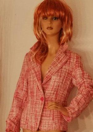 Blazer tejido rosa claro