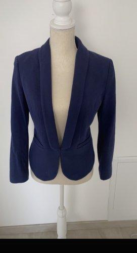 H&M Knitted Blazer blue