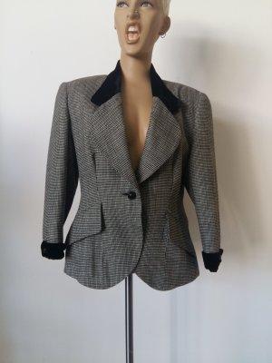 Blazer en laine noir-gris foncé laine