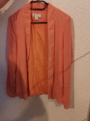 Amisu Blazer in jersey arancione-arancio neon
