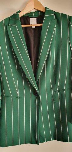 H&M Jersey Blazer white-forest green
